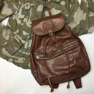 Vintage 90's Vegan Leather Backpack